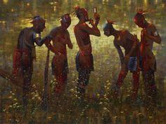 Doug Hall's Huckleberry Forest Studio - War Paint, Sold (http://www.doughallart.com/war-paint/)