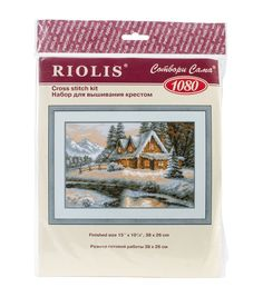"""Winter View Counted Cross Stitch Kit-15""""X10.25"""" 14 Count"""