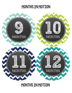 Monthly Baby Milestone Stickers Baby Boy Baby por MonthsinMotion