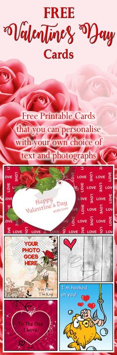 Create your own personalised greeting cards for St.Valentine's Day. Add your own choice of text, photographs, etc and download and print at home. Best of all it's completely FREE!