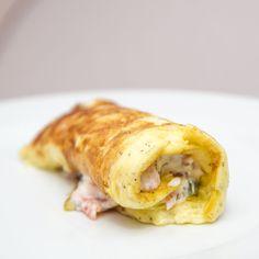 Ein herliches Frühstück, Omlette mit frischer Lachs Füllung. Ein schnelles und einfaches Rezept.