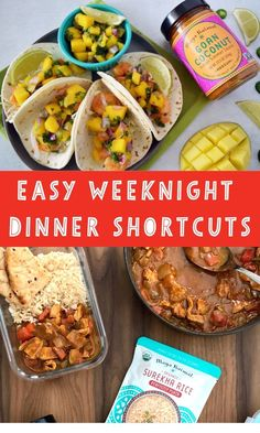 Easy and Healthy Weeknight Dinner Shortcuts - save time on busy weeknights with these easy dinner hacks to help you get dinner on the table quickly without sacrificing flavor! Healthy Weeknight Dinners, Nutritious Meals, Indian Sauces, Indian Food Recipes, Healthy Recipes, Curry Spices, Meal Prep Containers, Family Meals, Family Recipes