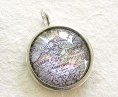 Scottish Craft Ideas | World Traveler Map Necklace or Pendant by TheGreenDaisyShop, $20.00 ...