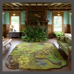 This rug/theme would be amazing in a play room! I love it!