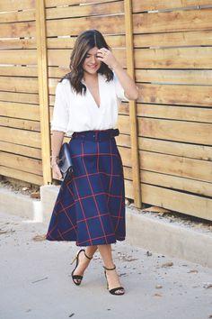 CHICWISH PLAID MIDI SKIRT- FALL FASHION!! Chic Talk | Colombian Fashion Blogger | Fashion Style - Inspiration - Trends - Ideas - Tips - Advice