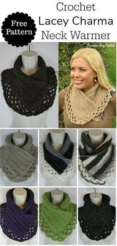 Crochet Lacey Charma Neck Warmer This charming Charma neck warmer pattern is inspired my mother Charma. She doesn't care for the bulkiness of a [. I hope you have enjoyed this beautiful crochet, the free pattern is HERE so you can make a beautiful Bonnet Crochet, Crochet Poncho, Crochet Scarves, Crochet Clothes, Easy Crochet, Crochet Stitches, Knitting Scarves, Crochet Edgings, Crochet Sweaters