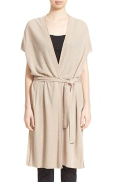 VINCE Belted Wool & Cashmere Wrap Cardigan. #vince #cloth #