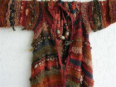 Boho Jacke Strickjacke Effektgarn Kleidung für von AlisaSonya