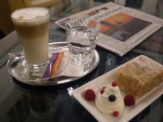 Café - Bar at the Ambassador Cafe Bar, Restaurant Bar, Chocolate Fondue, Vienna, Panna Cotta, Coffee, Ethnic Recipes, Desserts, Food