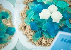 Edible sea glass recipe. Make gorgeous sea glass that tastes delicious and looks amazing with this easy tutorial, perfect for an ocean themed party!