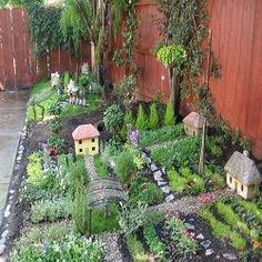 Herb garden village! Very fun and cute idea.