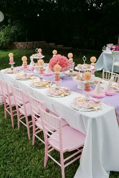 Table set for little girls tea party!