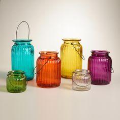 Clear Ribbed Glass Lantern Candleholder | World Market