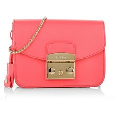 Furla Shoulder Bags, Metropolis Mini Crossbody Pinky Fluo Handbag (£180) ❤ liked on Polyvore featuring bags, handbags, shoulder bags, magenta, man bag, purse crossbody, pink purse, handbags purses and purse shoulder bag