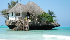 Restaurants in amazing locations with amazing views. The Rock - Zanzibar, Tanzania.