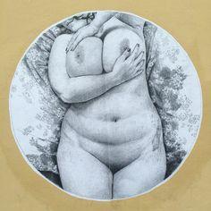 Anatomie du doute by #madeleinefroment #madeleinelatelier #nude #chubby #sexy #streetart #graffiti #wall #collage