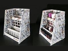 How To Make A Cosmetic Organiser From Newspaper - YouTube