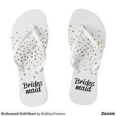 Bridesmaid Gold Heart
