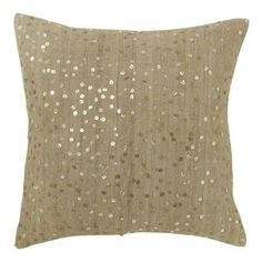 Random Sparkle Pillow Cover, Mushroom - Add a sparkly twist to your bed with these fun throw pillows.