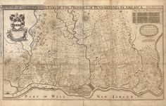 24 best history 1600s 1700s images on pinterest antique maps map of pennsylvania 1681 of particular interest to me right now is the german thecheapjerseys Gallery