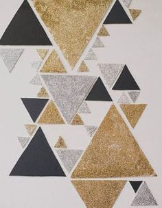 alec paik right triangle stacked gouache colored