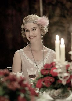 Lily James as Lady Rose MacClare Aldridge in Downton Abbey's Season 6 Christmas Special. ..