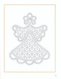 navidad - mdstfrnndz - Álbumes web de Picasa Bead Embroidery Patterns, Bobbin Lace Patterns, String Art Patterns, Types Of Embroidery, Beaded Embroidery, Machine Embroidery, Stitch Patterns, Lace Art, Crochet Angels