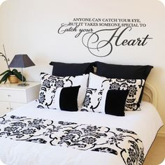 Catch Your Heart (Elegant Font) (wall decal from WallWritten.com).