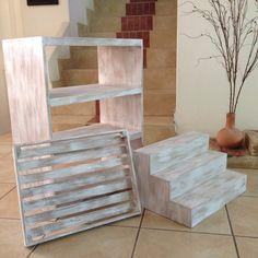 muebles vintage para mesa de dulces (jgo. 3 piezas)