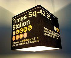 Large Times Square NYC New York City Decor Lamp Shade - Meninos Store www.meninos.us