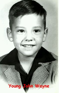 John Wayne...as a boy ~