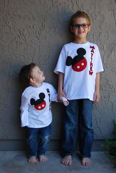 personalized Mickey Mouse shirt by RicRacAndRoses on Etsy, $25.00