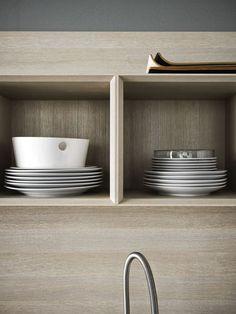 Cucina componibile con maniglie ARIEL 01 by CESAR ARREDAMENTI | design Gian Vittorio Plazzogna