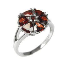 Stříbrný prsten Silvego s přírodním Granátem RSG36051G velikost 55
