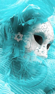 turquoise Venice carnival