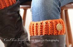 RIBBED BOOT TOPPERS: A FREE CROCHET PATTERN