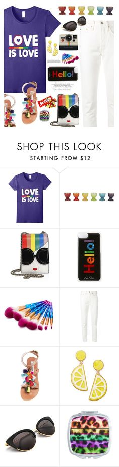 """LOVE IS LOVE"" by hamaly ❤ liked on Polyvore featuring Le Creuset, Alice + Olivia, Edie Parker, Levi's, Steve Madden, Celebrate Shop, Polaroid, outfit, ootd and trends"