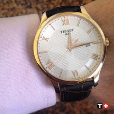 Thank you @andreapriano for sharing this great #wristshot of the #Tissot Tradition! #MyTissot #TissotMoment #tissotwatch by tissot_official