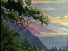 Erin Lee Gafill~painting of Big Sur coast from the deck at Nepenthe. xxxx!