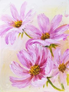 21963318-Cosmos-Flowers-oil-painting-on-canvas-Stock-Photo-flower.jpg (976×1300)