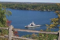 The Glenora Ferry in Prince Edward County, Ontario, Canada.