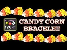 NEW Rainbow Loom Band Candy Corn Bracelet for Halloween - YouTube