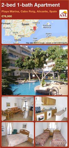 2-bed 1-bath Apartment in Playa Marina, Cabo Roig, Alicante, Spain ►€76,000 #PropertyForSaleInSpain