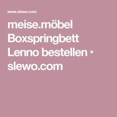 meise.möbel Boxspringbett Lenno bestellen • slewo.com