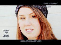 Calleigh's Clips & Crochet Creations: Sunset Slouchy Hat - Free Crochet Pattern