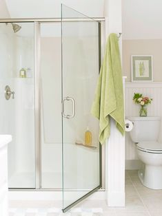 For a budget-friendly walk-in shower idea, look for a basic fiberglass shower with built-in amenities. This simple shower provides a small seat and ledges for storing shower necessities. #walkinshower #walkinshowerideas #bathroommakeover #showerideas #bhg Bathroom Renos, Bathroom Fixtures, Bathroom Renovations, Master Bathroom, Bathroom Ideas, Shower Ideas, Basement Bathroom, Cream Bathroom, Shower Bathroom