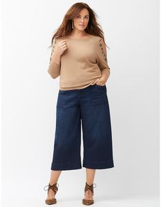 Wide leg crop by Lane Bryant | Lane Bryant