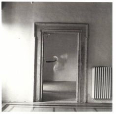 "Francesca Woodman, from series, ""Angel,"" September, 1977. Rome, Italy. Gelatin Silver Print."