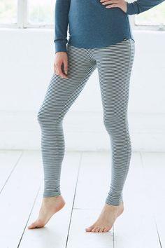 fa31b6576de7 Women s Snuggly Bamboo Leggings - Blue Frost Marl   Oatmeal Marl - Bamboo  Clothing