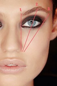 When shaping brows use a pencil (like eye liner) and hold it against your nostril and hold it vertically straight. thats where the brow should start (use the pencil to mark this spot), tilt the pencil to cross your pupil (when starring forward) thats where the arch should be. and lastly tilt the pencil to the edge of your eye, thats where the brow should end.